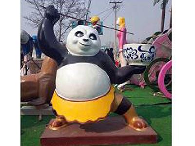 BLG2233-玻璃钢熊猫雕塑制作厂家