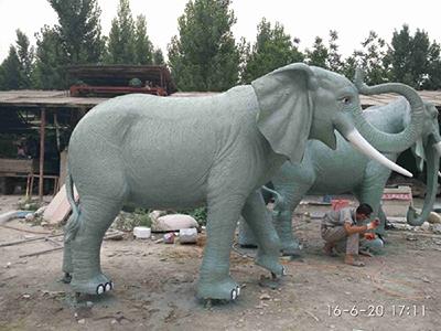BLG407-玻璃钢大象雕塑_玻璃钢仿真