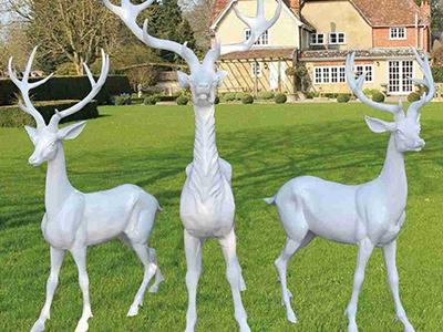 BLG672-玻璃钢小鹿雕塑_玻璃钢仿真