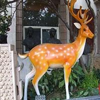 BLG716-玻璃钢小鹿雕塑_玻璃钢仿真小鹿雕塑哪家好