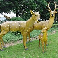 BLG719-玻璃钢小鹿雕塑_玻璃钢仿真小鹿雕塑制作厂家
