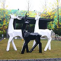 BLG720-玻璃钢小鹿雕塑_玻璃钢仿真小鹿雕塑生产厂家