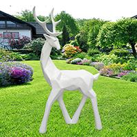 BLG722-玻璃钢小鹿雕塑_玻璃钢仿真小鹿雕塑供应