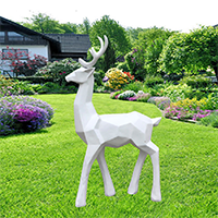 BLG723-玻璃钢小鹿雕塑_玻璃钢仿真小鹿雕塑加工