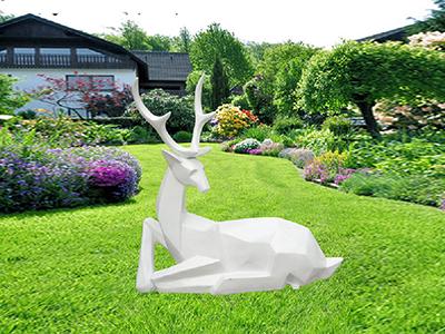 BLG725-玻璃钢小鹿雕塑_玻璃钢仿真