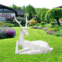 BLG725-玻璃钢小鹿雕塑_玻璃钢仿真小鹿雕塑厂家