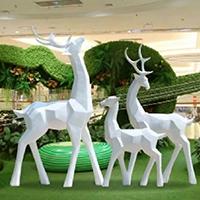 BLG727-玻璃钢小鹿雕塑_玻璃钢仿真小鹿雕塑定制