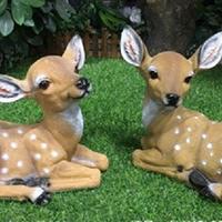 BLG728-玻璃钢小鹿雕塑_玻璃钢仿真小鹿雕塑设计