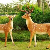 BLG729-玻璃钢小鹿雕塑_玻璃钢仿真小鹿雕塑报价