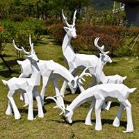 BLG730-玻璃钢小鹿雕塑_玻璃钢仿真小鹿雕塑价格