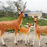 BLG733-玻璃钢小鹿雕塑_玻璃钢仿真小鹿雕塑哪里有