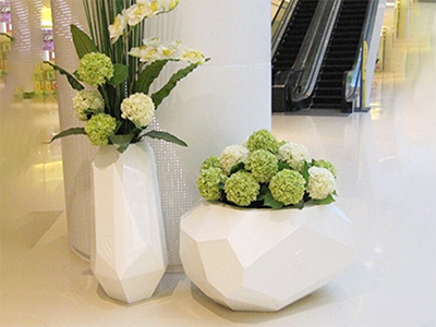 BLG947-玻璃钢圆形花盆雕塑加工