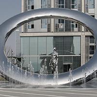 BXG1764-不锈钢雕塑设计