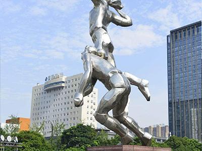 BXG184-不锈钢人物雕塑制作