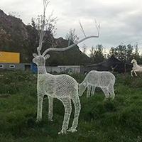 BXG422-不锈钢动物雕塑厂家
