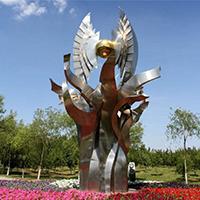BXG4225-不锈钢园林广场雕塑制作
