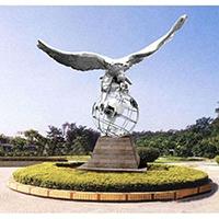 BXG4232-飞鹰不锈钢园林广场雕塑球形不锈钢雕塑加工