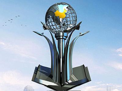BXG5505-球形不锈钢雕塑制作