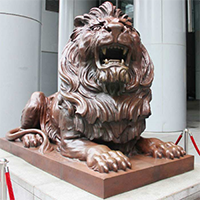 TDDW1284-西式铜雕狮子设计