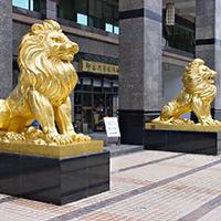 TDDW1296-西式铜雕狮子加工厂