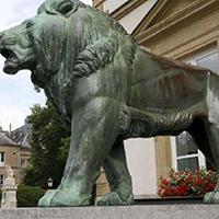 TDDW1307-西式铜雕狮子制作厂家