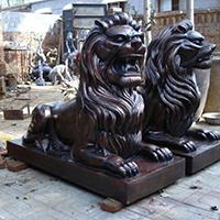 TDDW1312-西式铜雕狮子加工厂