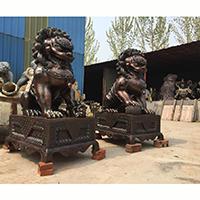 TDDW1347-中式铜雕狮子定制