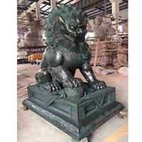TDDW1348-中式铜雕狮子设计