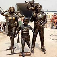 TDRW1933-家庭主题人物铜雕塑报价