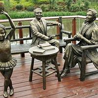 TDRW1934-家庭主题人物铜雕塑价格