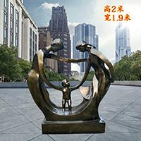 TDRW1936-家庭主题人物铜雕塑哪家好