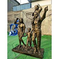 TDRW1942-家庭主题人物铜雕塑加工