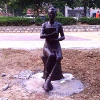 TDRW508-单体人物铜雕站像制作