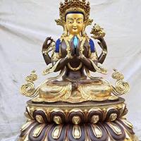 XFGS038-藏传佛教铜雕塑定制