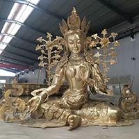 XFGS078-藏传佛教铜雕塑制作厂家