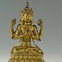 XFGS094-藏传佛教铜雕塑制作厂家