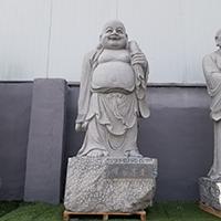 XFGS1154-十八罗汉石雕塑像制作厂家