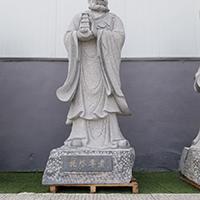 XFGS1156-十八罗汉石雕塑像公司