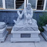 XFGS1160-十八罗汉石雕塑像厂