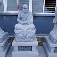 XFGS1161-十八罗汉石雕塑像定制