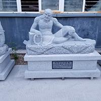 XFGS1165-十八罗汉石雕塑像制作