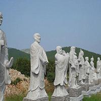 XFGS1183-十八罗汉石雕塑像制作厂家