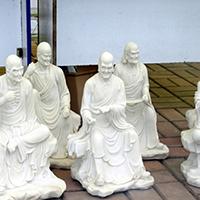 XFGS1184-十八罗汉石雕塑像生产厂家
