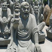 XFGS1185-十八罗汉石雕塑像公司
