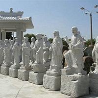 XFGS1186-十八罗汉石雕塑像供应