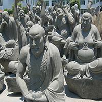 XFGS1188-十八罗汉石雕塑像加工厂
