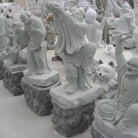 XFGS1190-十八罗汉石雕塑像定制
