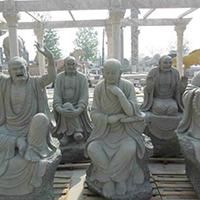 XFGS1197-十八罗汉石雕塑像多少钱