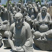 XFGS1201-十八罗汉石雕塑像加工