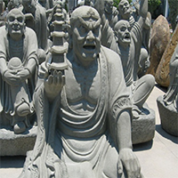 XFGS1203-十八罗汉石雕塑像厂家